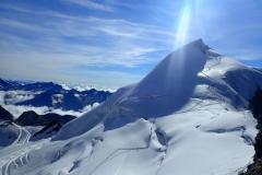 Blick aus das Allalinhorn