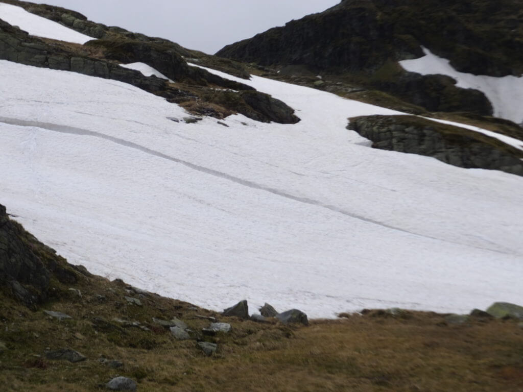 Großes alt Schneefeld