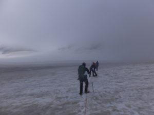 Angeseilt im Schnee